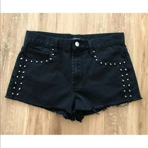 Forever 21 Studded Cut off Jean Shorts Pockets